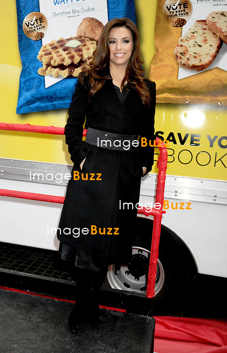 Eva Longoria at a promotional event for Lays Potato Chips in New York City..New York, February 12, 2013.