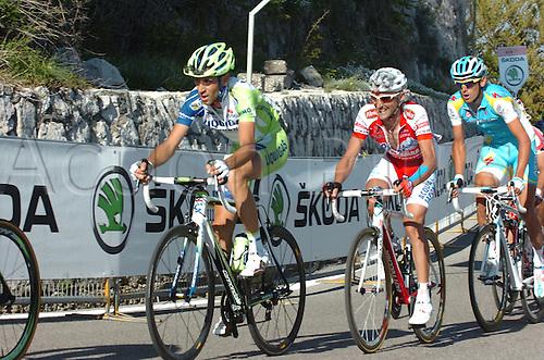 13.05.2011. Giro d Italia, Stage 7.  Maddaloni - Montevergine Di Mercogliano, Liquigas - Cannondale 2011, Acqua e Sapone 2011, Astana 2011, Nibali Vincenzo, Garzelli Stefano, Kreuziger Roman, Montevergine Di Mercogliano