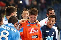 ROMA 20/05/2012 - FINALI COPPA ITALIA  2011/2012  . INCONTRO NAPOLI - JUVENTUS. NELLA FOTO  IL PIANTO DI  MORGAN DE SANCTIS.FOTO CIRO DE LUCA