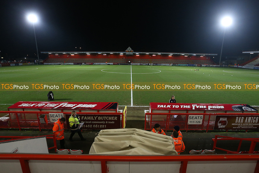 General view of the ground during Stevenage vs Leyton Orient, Sky Bet EFL League 2 Football at the Lamex Stadium on 28th February 2017