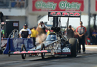 Sept. 22, 2012; Ennis, TX, USA: NHRA top fuel dragster driver Steve Torrence during qualifying for the Fall Nationals at the Texas Motorplex. Mandatory Credit: Mark J. Rebilas-US PRESSWIRE