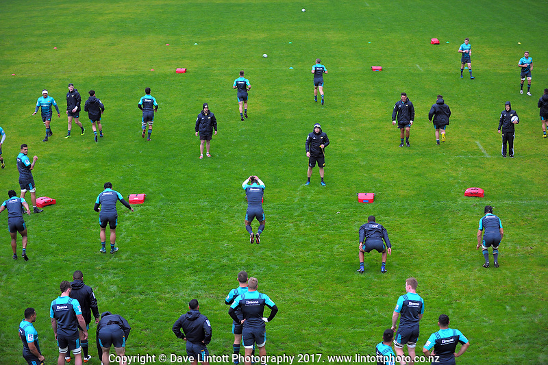 Hurricanes rugby union training at Rugby League Park in Wellington, New Zealand on Wednesday, 5 April 2017. Photo: Dave Lintott / lintottphoto.co.nz