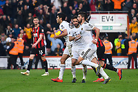Raul Jimenez of Wolverhampton Wanderers carries the ball back for the restart after scoring from the penalty spot to make the score 1-1 during AFC Bournemouth vs Wolverhampton Wanderers, Premier League Football at the Vitality Stadium on 23rd February 2019