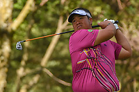 Kiradech Aphibarnrat (THA) watches his tee shot on 16 during round 3 of the World Golf Championships, Mexico, Club De Golf Chapultepec, Mexico City, Mexico. 2/23/2019.<br /> Picture: Golffile | Ken Murray<br /> <br /> <br /> All photo usage must carry mandatory copyright credit (© Golffile | Ken Murray)