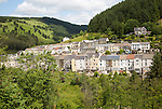 Terraced houses in Blaengwynfi, Neath Port Talbot area, South Wales, UK