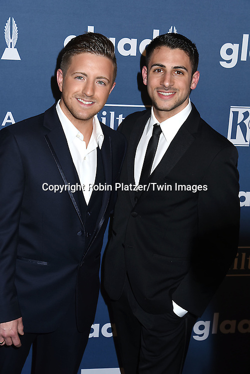 Billy Gilman and       attends the 27th Annual GLAAD Media Awards on May 14, 2016 at the Waldorf Astoria Hotel in New York City, New York, USA.<br /> <br /> photo by Robin Platzer/Twin Images<br />  <br /> phone number 212-935-0770