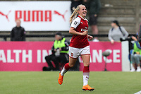 Beth Mead of Arsenal Women celebrates scoring the second Arsenal goal during Arsenal Women vs Manchester City Women, FA Women's Super League FA WSL1 Football at Meadow Park on 12th May 2018