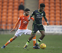 Blackpool's Kelvin Mellor in action with Ellis Harrison<br /> <br /> Photographer Mick Walker/CameraSport<br /> <br /> The EFL Sky Bet League One - Blackpool v Bristol Rovers - Saturday 13th January 2018 - Bloomfield Road - Blackpool<br /> <br /> World Copyright &copy; 2018 CameraSport. All rights reserved. 43 Linden Ave. Countesthorpe. Leicester. England. LE8 5PG - Tel: +44 (0) 116 277 4147 - admin@camerasport.com - www.camerasport.com