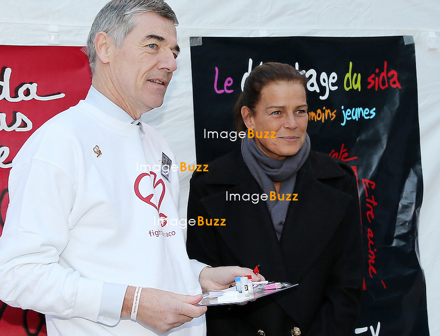 Princess Stephanie of Monaco, president of Fight Aids Monaco, attends the &quot;Test In The City&quot; operation, a free HIV test in Monaco<br /> Monaco, November 28, 2013.