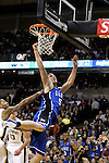 Duke Blue Devils forward Mason Plumlee (5) lays one in against the Deacs. Duke wins 83-59..