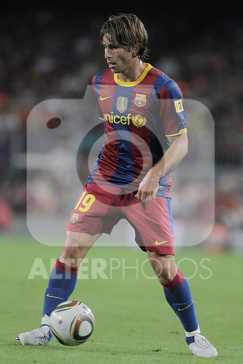 FC Barcelona's Maxwell during SuperCup of Spain Final match. August 21,2010. (ALTERPHOTOS/Acero)