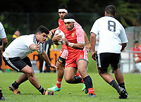 Action from the rugby match between Tonga Schools and NZ Maori Under-18 at Porirua Park in Wellington, New Zealand on Friday, 6 October 2017. Photo: Dave Lintott / lintottphoto.co.nz