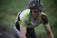 Dwars Door Vlaanderen 2013.Maxime Vantomme (BEL) on the Oude Kwaremont
