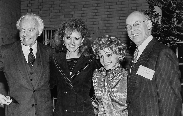 Rep. Tom Lantos, D-Calif., with wife Annette Lantos, Katrina Lantos Swett, wife of Richard Swett, Rep. James Robert Jones, D-Okla., along with American Stock Exchange Chairman at  the Botanical Gardens, on Feb. 04, 1991. (Photo by Laura Patterson/CQ Roll Call via Getty Images)
