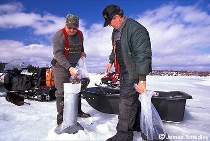Lake restocking wildlife project