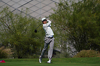 Haotong Li (CHN) on the 18th during the Pro-Am of the Commercial Bank Qatar Masters 2020 at the Education City Golf Club, Doha, Qatar . 04/03/2020<br /> Picture: Golffile   Thos Caffrey<br /> <br /> <br /> All photo usage must carry mandatory copyright credit (© Golffile   Thos Caffrey)
