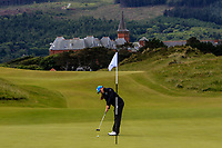 Letizia Bagnoli (ITA) on the 1st green during Round 1 of the Women's Amateur Championship at Royal County Down Golf Club in Newcastle Co. Down on Tuesday 11th June 2019.<br /> Picture:  Thos Caffrey / www.golffile.ie<br /> <br /> All photos usage must carry mandatory copyright credit (© Golffile | Thos Caffrey)