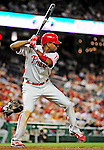 28 September 2010: Philadelphia Phillies' outfielder Ben Francisco in action against the Washington Nationals at Nationals Park in Washington, DC. The Nationals defeated the Phillies 2-1 on an Adam Dunn walk-off solo homer in the 9th inning to even up their 3-game series one game apiece. Mandatory Credit: Ed Wolfstein Photo