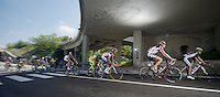 Giro d'Italia stage 13.Savano-Cervere: 121km..peloton under the bridge