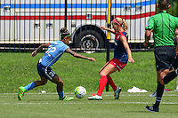 Boyds, MD - Sunday July 31, 2016: Tasha Kai, Megan Oyster during a regular season National Women's Soccer League (NWSL) match between the Washington Spirit and Sky Blue FC at Maureen Hendricks Field, Maryland SoccerPlex. The Washington Spirit defeated Sky Blue FC 3-1.