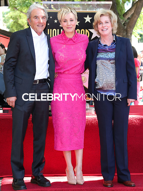 HOLLYWOOD, LOS ANGELES, CA, USA - OCTOBER 29: Gary Carmine Cuoco, Kaley Cuoco, Layne Ann Cuoco at the ceremony honoring Kaley Cuoco with a star in the Hollywood Walk Of Fame on October 29, 2014 in Hollywood, Los Angeles, California, United States. (Photo by Xavier Collin/Celebrity Monitor)