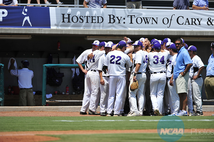 04 JUNE 2011:  The University of West Florida takes on Winona State University during the Division II Men's Baseball Championship held at the USA Baseball National Training Complex in Cary, NC. West Florida defeated Winona State 12-2 to win the national title.  Grant Halverson/ NCAA Photos
