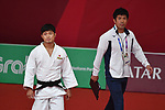 (L-R) Joshiro Maruyama,     Masahiko Tomouchi (JPN), <br /> AUGUST 29, 2018 - Judo : Men's -66kg at Jakarta Convention Center Plenary Hall during the 2018 Jakarta Palembang Asian Games in Jakarta, Indonesia. <br /> (Photo by MATSUO.K/AFLO SPORT)
