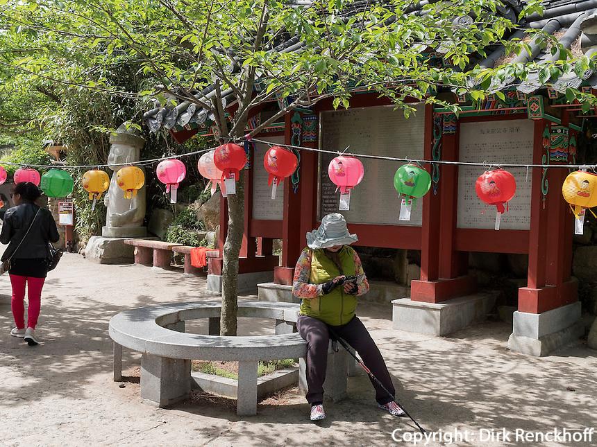 Buddhistischer Tempel Haedong Yonggungsa, Busan, Gyeongsangnam-do, S&uuml;dkorea, Asien<br /> buddhist temple Haedong Yonggungsa, Busan,  province Gyeongsangnam-do, South Korea, Asia