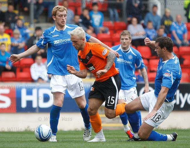 Johnny Russell skips past the St Johnstone defence