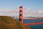 Marin Headlands; sightseeing; Golden Gate Bridge, San Francisco, California, USA.  Photo copyright Lee Foster.  Photo # california108714