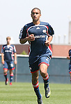 17 June 2007: New England's Amaechi Igwe. The New England Revolution Reserves defeated the Columbus Crew Reserves 2-1 on the Gillette Stadium practice field in Foxboro, Massachusetts in a Major League Soccer Reserve Division game.