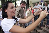 CAMPINAS, SP 11.02.2019-PROTESTO IPTU-Um ato organizado por ao menos 30 entidades ligadas aos setores do comércio, indústria e serviços de Campinas pediu na tarde desta segunda-feira (11) a mudança da lei que aumentou o IPTU na cidade a partir de 2018. (Foto: Denny Cesare/Codigo19)