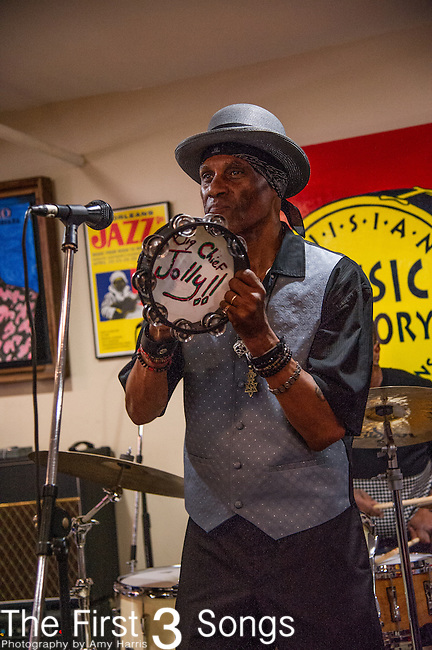 Cyril Neville of the Royal Southern Brotherhood performs at Louisiana Music Factory in New Orleans, LA.