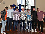Conor Farrell celebrating his 21st birthday in The Thatch with friends. Photo:Colin Bell/pressphotos.ie