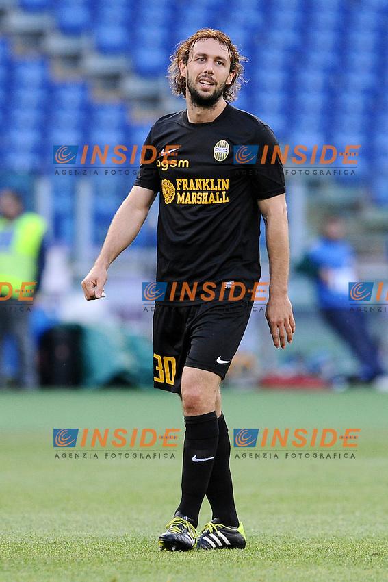 Marco Donadel Verona.<br /> Roma 5-05-2014 Stadio Olimpico. Football Calcio 2013/2014 Serie A. Lazio - Hellas Verona. Foto Antonietta Baldassarre / Insidefoto