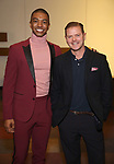 "Christian Dante White and Clarke Thorell attends the ""My Fair Lady"" Re-Opening Celebration at the Vivian Beaumont Theatre on January 27, 2019 in New York City."