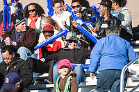 In a National Women's Soccer League Elite (NWSL) match, the Boston Breakers and  Washington Spirit drew 1-1, at the Dilboy Stadium on April 14, 2012.  The Boston Breakers spectators filled the stadium of their team's season opener.