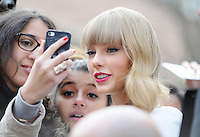 November 8th 2012 - Paris..Taylor Swift arriving at her Hotel in Paris...<br />