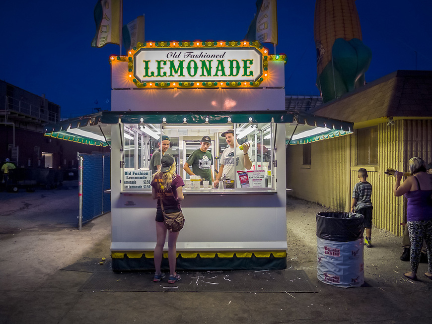 A classic Lemonade Stand captured at the Wisconsin State Fair in Milwaukee, Wisconsin.