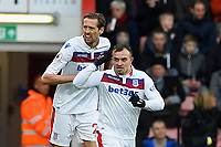 Xherdan Shaqiri of Stoke City front celebrates after scoring the first goal as Peter Crouch of Stoke City looks on during AFC Bournemouth vs Stoke City, Premier League Football at the Vitality Stadium on 3rd February 2018