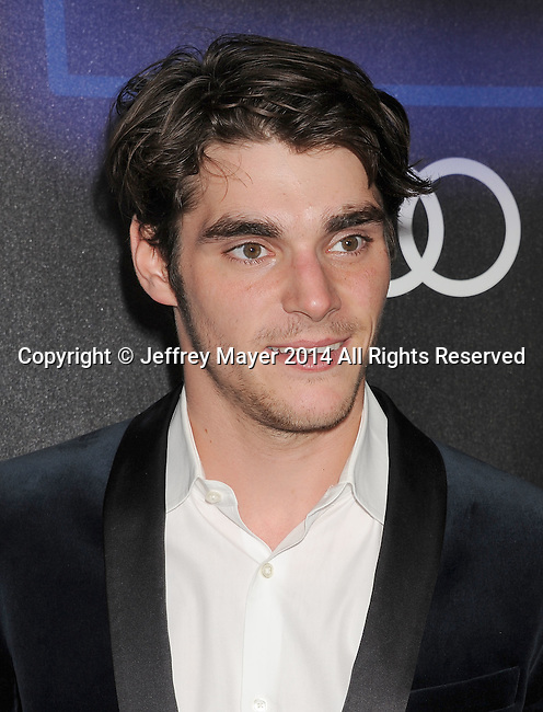 LOS ANGELES, CA- AUGUST 21: Actor RJ MItte arrives at the Audi Emmy Week Celebration at Cecconi's Restaurant on August 21, 2014 in Los Angeles, California.
