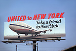United Airlines billboard in Los Angeles circa 1971