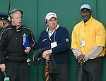 23rd September, 2006. .Former American basketball player Michael Jordan (yellow jumper) watches play on the 9th hole during the afternoon fourball session of the second day of the 2006 Ryder Cup at the K Club in Straffan, County Kildare in the Republic of Ireland..Photo: Eoin Clarke/ Newsfile.