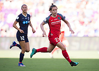 Orlando, FL - Saturday October 14, 2017: Meghan Klingenberg during the NWSL Championship match between the North Carolina Courage and the Portland Thorns FC at Orlando City Stadium.   The Portland Thorns won the championship, 1-0.