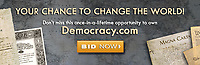 BNPS.co.uk (01202 558833)<br /> Picture: HeritageAuctions/BNPS<br /> <br /> Democracy for sale...Businessman Talmage Cooley snapped up the domain in 2012.<br /> <br /> The internet domain democracy.com has come up for sale for over £1m as MPs endlessly debate the meaning of the word.<br /> <br /> The handle is currently owned by American businessman Talmage Cooley who set up his website in 2012 to help fund candidates who want to run for office.<br /> <br /> He says the domain is likely to sell for a mind-blowing seven figure sum with 'democracy' currently a buzz word in global and UK politics.