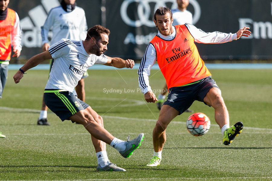 Melbourne, 16 July 2015 - Daniel Carvajal of Real Madrid at a training session at the Melbourne City Football Academy training ground before their match against AS Roma on 18 July at the 2015 International Champions Cup in Melbourne, Australia. Photo Sydney Low/AsteriskImages.com
