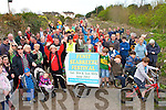Pictured at the rail line walk on the Tralee to Fenit rail line  on Sunday.