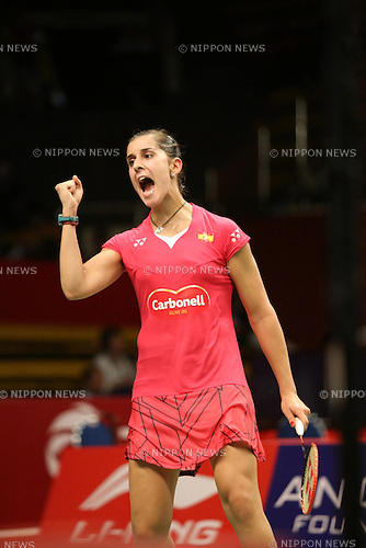 Carolina Marin (ESP), AUGUST 11, 2015 - Badminton : BWF World Championships 2015 women's singles match in Jakarta, Indonesia. (Photo by Toshihiro Kitagawa/AFLO)
