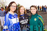 St Brendans fans attending the County Senior Hurling final in Abbeydorney on Sunday last were l-r: Orla Hussey, Norette Casey and Sarah Sheehan.