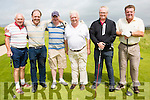 Teeing it up for Presidents Frank Stephenson prize at Waterville Golf Club on Sunday were l-r; Seamus Scally, Charles McCarthy, Brian Stephenson, President Frank Stephenson, Paul Stephenson & Ger O'Connor.